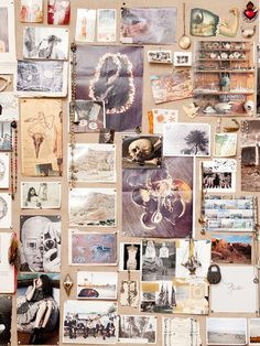 Pamela Love mood board - Also a great idea for planning paintings.