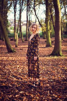 Lizzy Spit's Album Cover photoshoot for Villians. Editorial woodland fashion shoot. Dark autumnal, creative, natural light photography shot by www.terripashleyphotography.co.uk make-up by www.zuzanaritchie.com