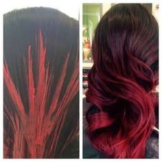 red balayage - Google Search