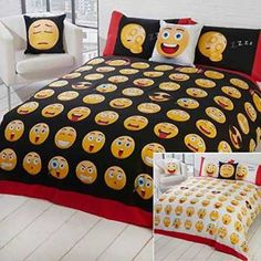 Just Contempo Emoji Icon Juego de Funda Nordica Varios Colores Suelto  Caracteristicas Del Producto: Novelty reversible printed bedding set with easyc