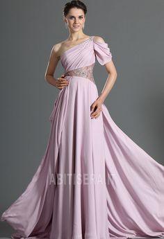 Abito da sera Inverno Chiffon a linea A Terra Naturale Non Specificato Prom  Dress 2014 0a51e586612