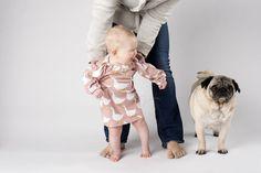 Cute baby, cute pug,