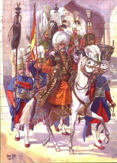 The sultan and the Ottoman guard