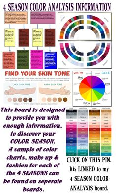 Link to LisaBWD's 4SEASON INFORMATION Color Analysis CLICK ON THE PIN, IT IS LINKED TO THE BOARD!
