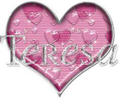 My Wife's name Teresa! Glitter Text, Glitter Graphics, Letter T, Grandkids, Friendship, Gifs, Hearts, Sparkle, Names