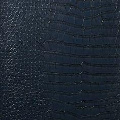 Le Embossed Croc - Deep Navy Blue – Designer Wallcoverings and Fabrics Cork Wallpaper, Navy Wallpaper, Office Wallpaper, Luxury Wallpaper, Bathroom Wallpaper, Blue Wallpapers, Textured Wallpaper, Custom Wallpaper, Pattern Wallpaper