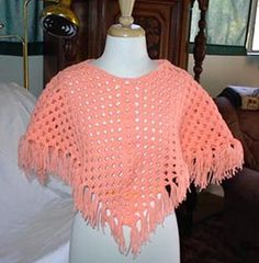 Craft Passions: Simple girl's poncho # Free # crochet link here . Craft Passions: Simple girl's poncho # Free # crochet link here . Crochet Baby Poncho, Crochet Poncho Patterns, Crochet Girls, Knitted Poncho, Crochet Scarves, Crochet For Kids, Crochet Shawl, Crochet Clothes, Free Crochet