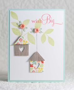My Paper Tales: Happy Birthday Kara!  Cute idea for the Love Lives Here houses.