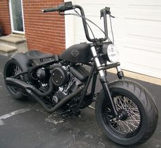 Blacked out Harley