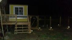 At night hen den chicken coop