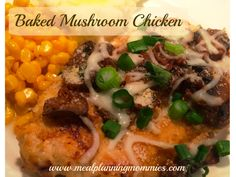 This is one of my favorite chicken recipes! Flavorful and juicy chicken with mushrooms, green onion, Parmesan cheese, and mozzarella cheese. Delicious!
