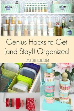 These genius organization hacks will not only make easy work of getting organized but will make it much easier to stay organized too! Do It Yourself Organization, Organization Hacks, Organizing Ideas, Household Organization, Old Doors, Home Office Design, Office Designs, Staying Organized, Decorating On A Budget