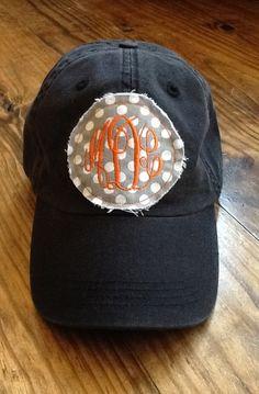 Ladies Monogrammed Hat by KBJsMonogram on Etsy, $20.00