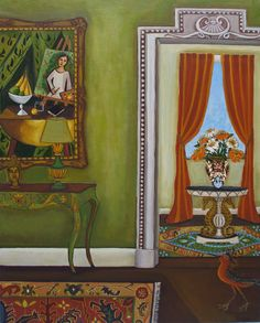 """The Artist's Interior"" by Catherine Nolin. Acrylic on canvas, 2011."