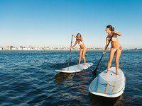 Die Braut, die sich traut: SUP-Kurse kann man mittlerweile fast in jedem Gewässer machen