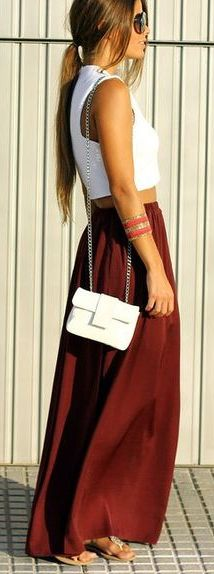 <3 the colour of the maxi skirt
