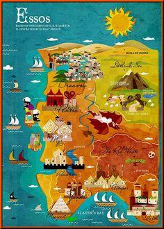 Essos map by Kitkat Pecson.