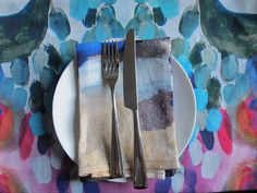 Shilo Engelbrecht, Digitally printed placemat. Brisbane raised textile designer taking over the world by storm. Check out her website.