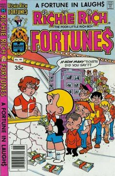 A cover gallery for the comic book Richie Rich Fortunes Old Comic Books, Vintage Comic Books, Comic Book Covers, Vintage Comics, Old Comics, Funny Comics, Richie Rich Comics, Comic Book Publishers, Rich Boy