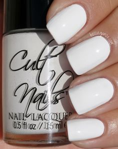 KellieGonzo: Cult Nails - Tempest, the best white nail polish ever!