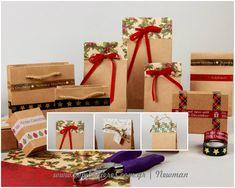 Βρείτε ιδέες για να φτιάξετε μόνοι σας μοναδικές συσκευασίες για τα δώρα των Χριστουγέννων με υλικά χειροτεχνίας και συσκευασίας από το κατάστημα Newman