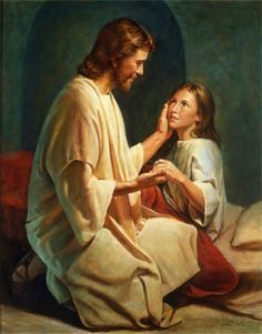 lds picture girl with christ - Google Search