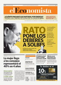 El Economista : Newspaper Design : via Miguel Buckenmeyer (possibly my new muse) ::: Magazine Design Inspiration, Layout Inspiration, Editorial Layout, Editorial Design, Web Design, Layout Design, Newspaper Design Layout, Front Page Design, Im Jealous
