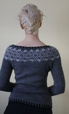 I like this neck line  Ravelry: rockandpurl's Vogue Knitting Fair Isle
