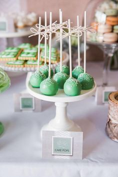 Love the bows tied onto the cake pop sticks! More ideas on Kara's Party Ideas- The Place for ALL things Party!