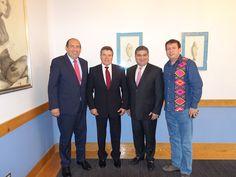 El Presidente del Consejo Sindical del SNTE, Maestro Juan Díaz de la Torre y el Gobernador del estado de Coahuila, Rubén Moreira Valdez, acordaron unir esfuerzos para impulsar en la Ciudad de Torreón el programa SNTE Verde.