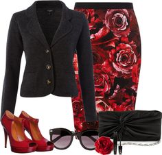 """""""Red & black"""" by sonam88 ❤ liked on Polyvore"""