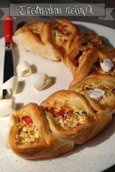 Συνταγή: Στεφανάκι πεϊνιρλί ⋆ CookEatUp Savory Muffins, Greek Recipes, Pizza Recipes, Pie Dish, Bagel, Food And Drink, Appetizers, Bread, Snacks
