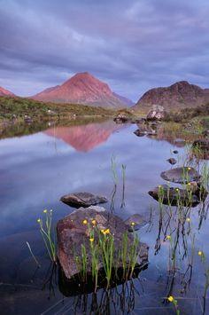 Last light on Marsco, Isle of Skye.