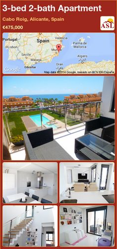 3-bed 2-bath Apartment in Cabo Roig, Alicante, Spain ►€475,000 #PropertyForSaleInSpain