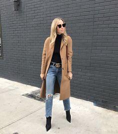 November 10, 2017 HAPPY FRIDAY! IT'S A COLD ONE! - Denim: Levis | Bodysuit | Belt: Gucci | Coat: Similar | Boots: Balenciaga | Sunglasses: Fendi