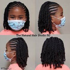 Little Girls Natural Hairstyles, Natural Braided Hairstyles, Black Kids Hairstyles, Natural Hair Braids, Baby Girl Hairstyles, Braids For Black Hair, Natural Hair Styles, Kids Crotchet Hairstyles, Little Girl Twist Hairstyles Black