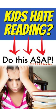 My kids hate reading! Help kids read struggling reader ideas. #reading #kidsbooks #lessons #homeschool #school