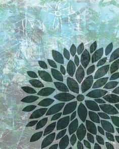 Flower Burst Wall Art Prints Artistic Flower by 7WondersDesign