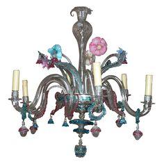 Over-the-top 1900s Murano chandelier
