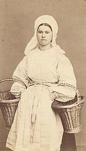 Belgium Worker Traditional Fashion 1870