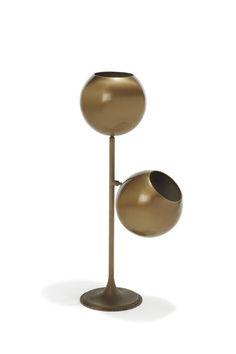 Gino Sarfatti for Arteluce; table lamp mod. 521, enameled brass and aluminium, Italy, 1961