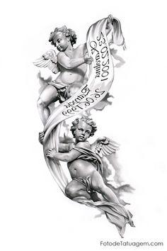 Resultado de imagem para tattoo anjo