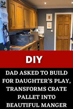 #Dad Asked To #Build For #Daughter's #Play, #Transforms Crate #Pallet Into #Beautiful #Manger Amazing Life Hacks, Simple Life Hacks, Amazing Facts, Useful Life Hacks, Diy Crafts For Girls, Diy Crafts For Home Decor, Diy Arts And Crafts, Diy Furniture Projects, Cool Diy Projects