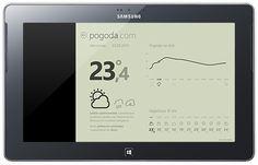 Weather, Windows 8 UI mobile application