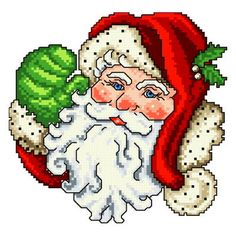 Mr Claus - cross stitch pattern designed by Ursula Michael. Category: Santa.