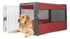Keep your best friend safe and secure with the Sportpet Large Pop Pet Crate, Portable Kennel, travel dog crate. It is made of plastic, polyester and steel. Sportpet Travel Large Pop-up Pet Crate, Portable Dog crate size: D x x Assorted Colors. Big Dog Crates, Large Dog Crate, Big Dogs, Large Dogs, Portable Dog Crate, Dog Crate Cover, Airline Pet Carrier, Dog Cages, Dogs