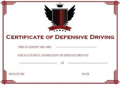 photograph relating to Defensive Driving Course Online Texas Printable Certificate referred to as 20 Easiest Harmless At the rear of Certification Template pictures within 2018