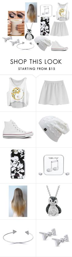 """""""Clare's outfit"""" by adara-omgg-laceup on Polyvore featuring Tara Jarmon, Converse, Isaac Mizrahi, Happy Plugs, Amanda Rose Collection, Effy Jewelry and Kobelli"""