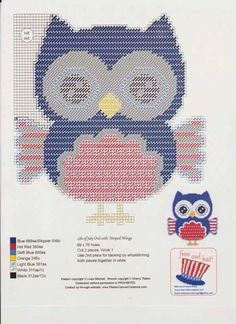 4th of July Owls Set 3/6