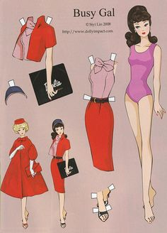 """Repro: Barbie Paper Dolls: """"Busy Gal"""" by Siyi Lin"""